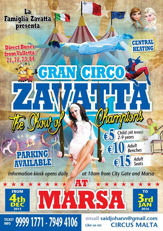Circus Malta flyer