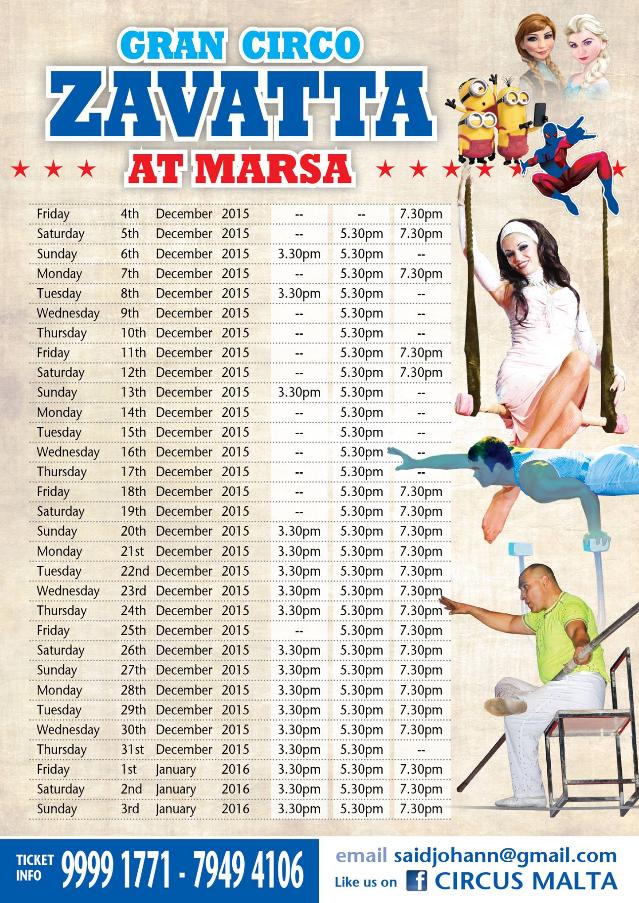 Circus dates
