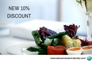 Lunch at Hugo's terrace - discount with ISIC Card